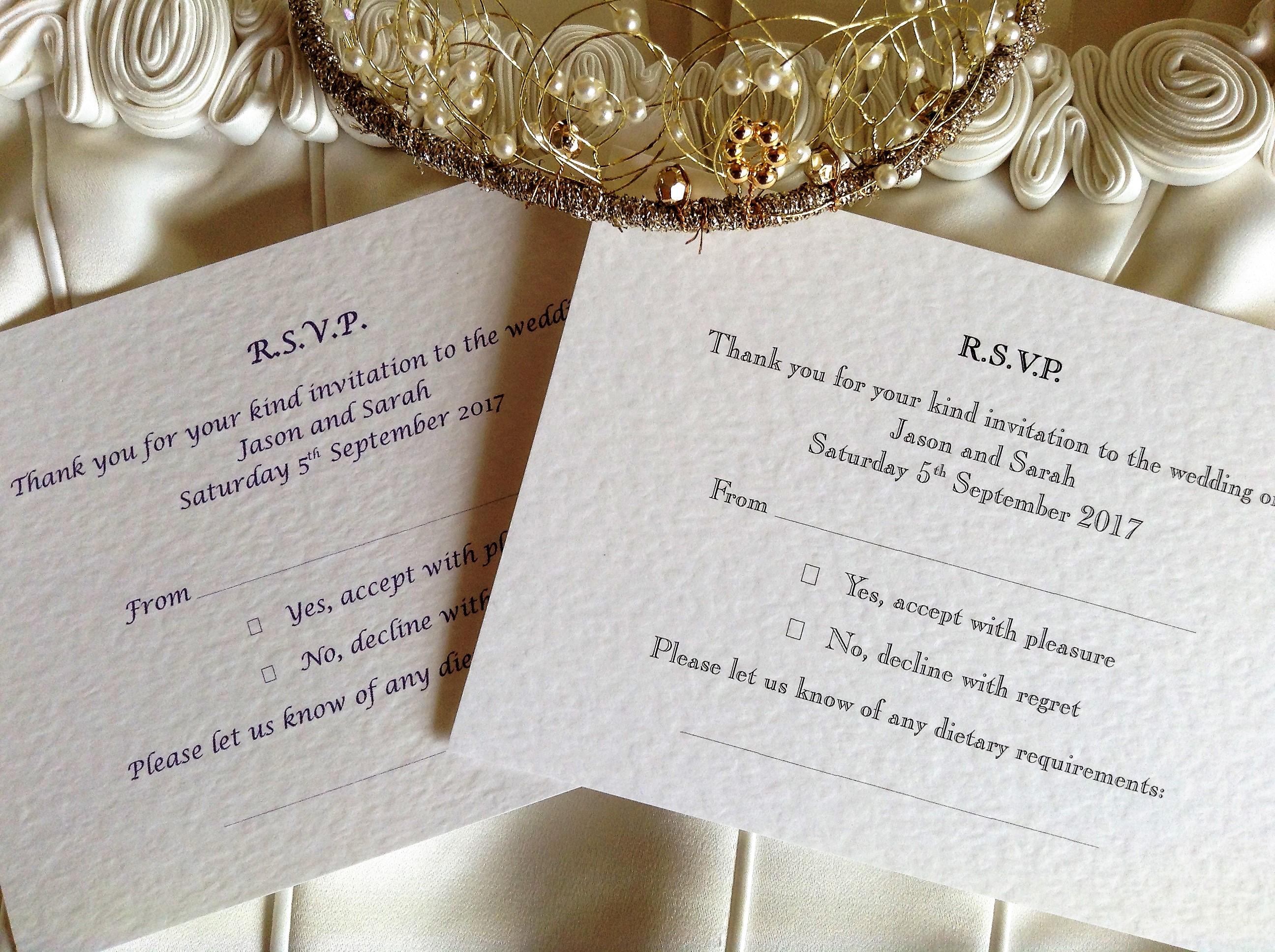 rsvp postcard wedding