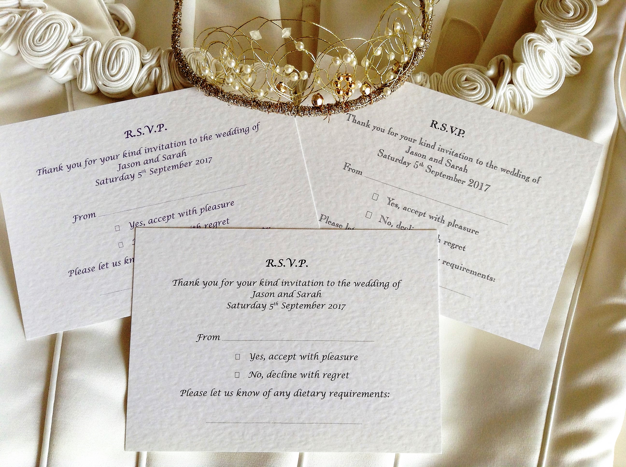 Wedding Invitations With Rsvp Postcards: Wedding Stationery