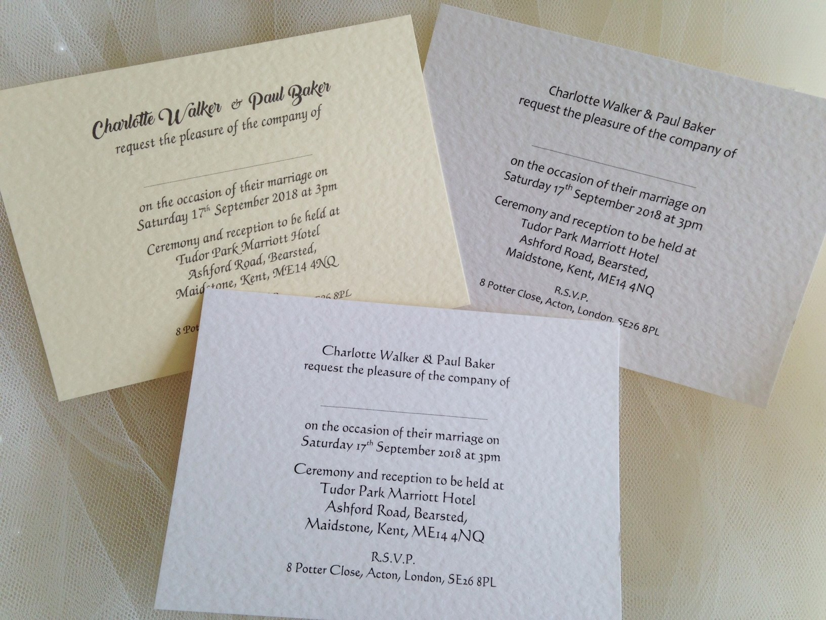 Printed Wedding Invitations: Printed Wedding Invitations For 60p Each