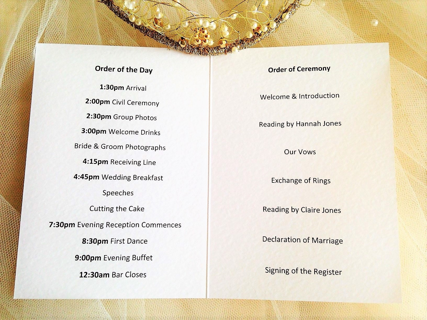small diamante heart wedding order of service books. Black Bedroom Furniture Sets. Home Design Ideas