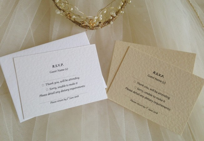 RSVP cards and envelopes