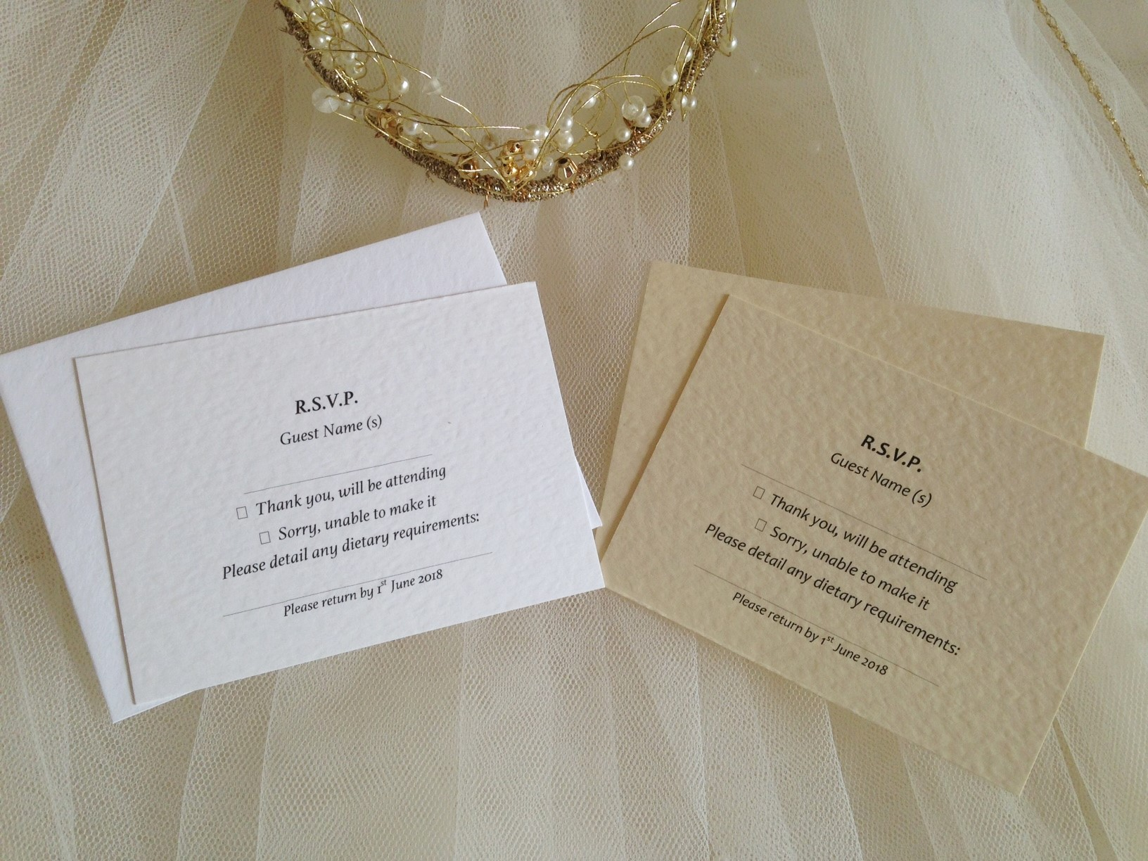 Wedding Invitations With Response Cards And Envelopes: RSVP Cards And Envelopes