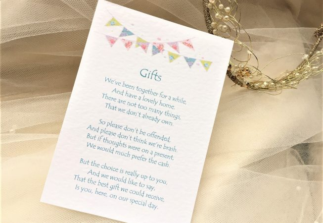 Summer Bunting Guest Information Cards