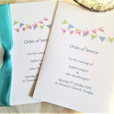 Small Summer Bunting Order of Service Books