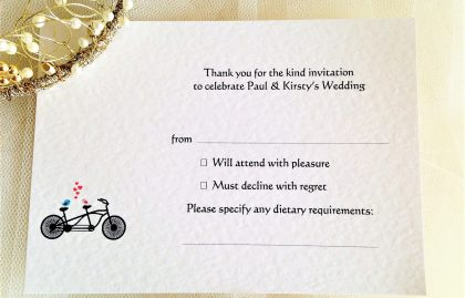 Tandem Bike RSVP Postcards