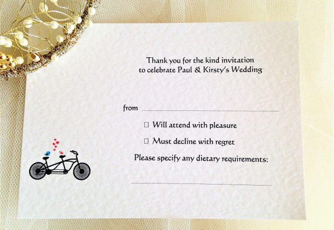 Tandem Bike RSVP Postcard