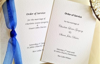 Large Order of Service Books for Weddings