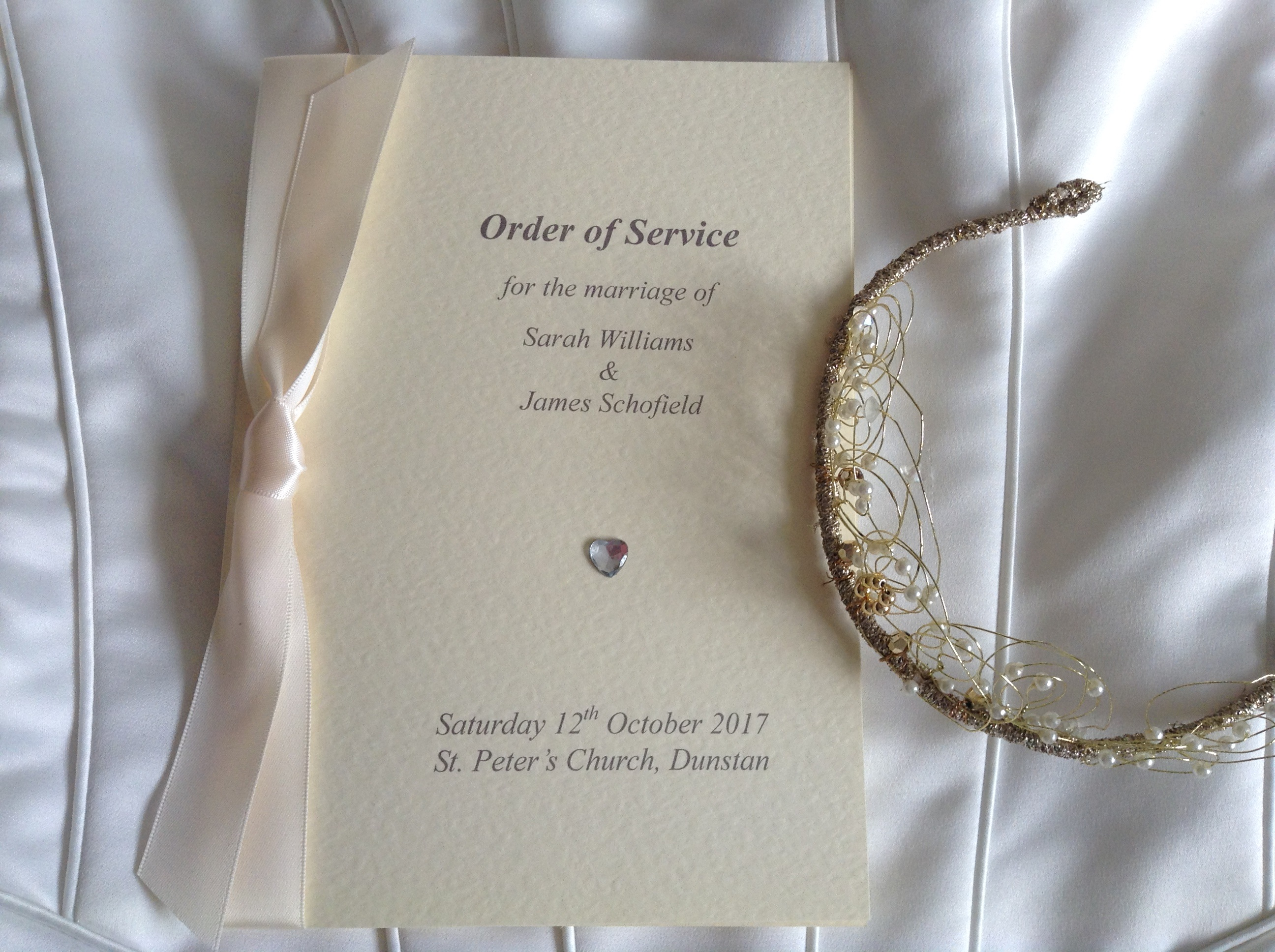 Diamante Heart Order of Service