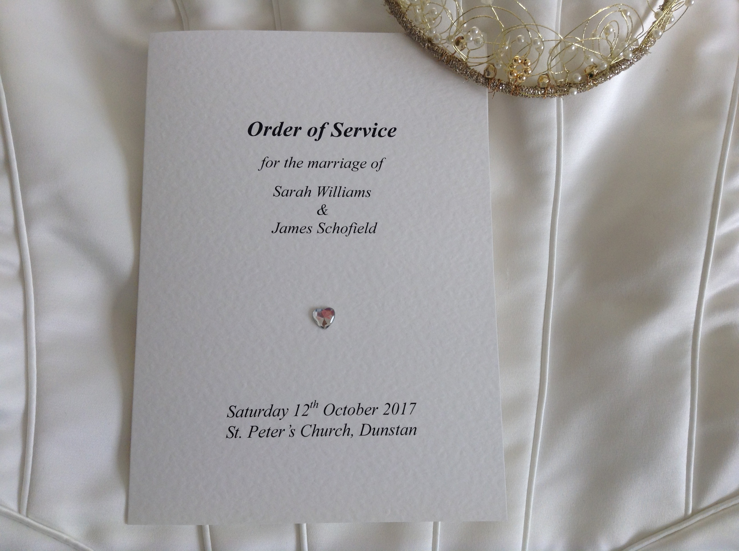 5 x vintage rustic style shabby chic wedding order of service
