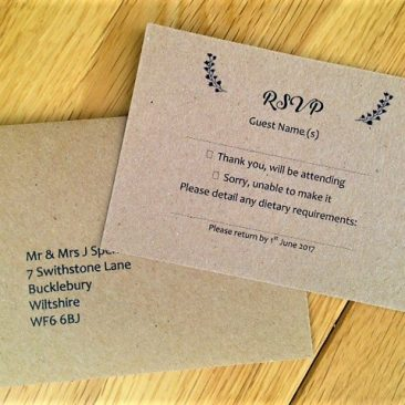 Vintage RSVP Cards and Envelopes