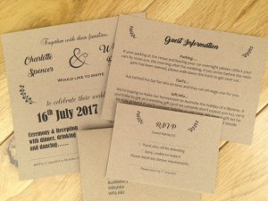 Vintage Wedding Stationery Range