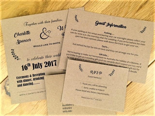 Vintage wedding invitations wedding invites vintage wedding invitations vintage guest information cards stopboris Choice Image