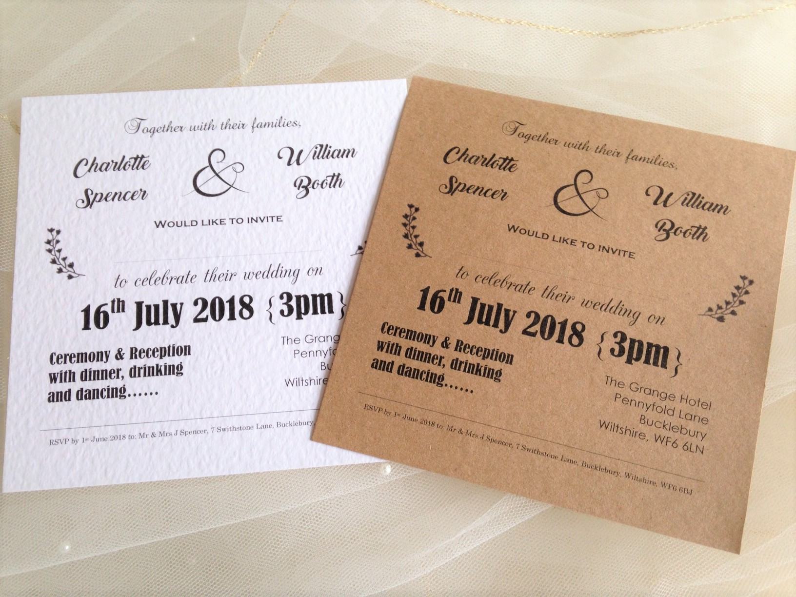 Wedding Invitations England: Vintage Wedding Invitations