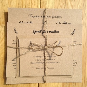 Our new vintage wedding stationery range