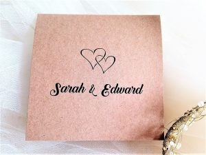 Rustic Kraft Pocketfold Wedding Invitations