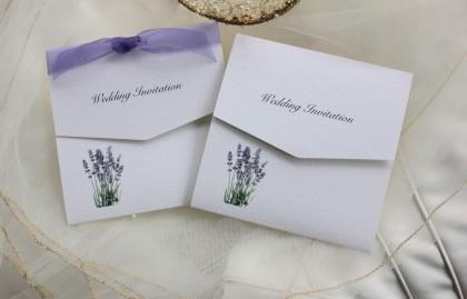 Lavender Tri Fold Wedding Invitations