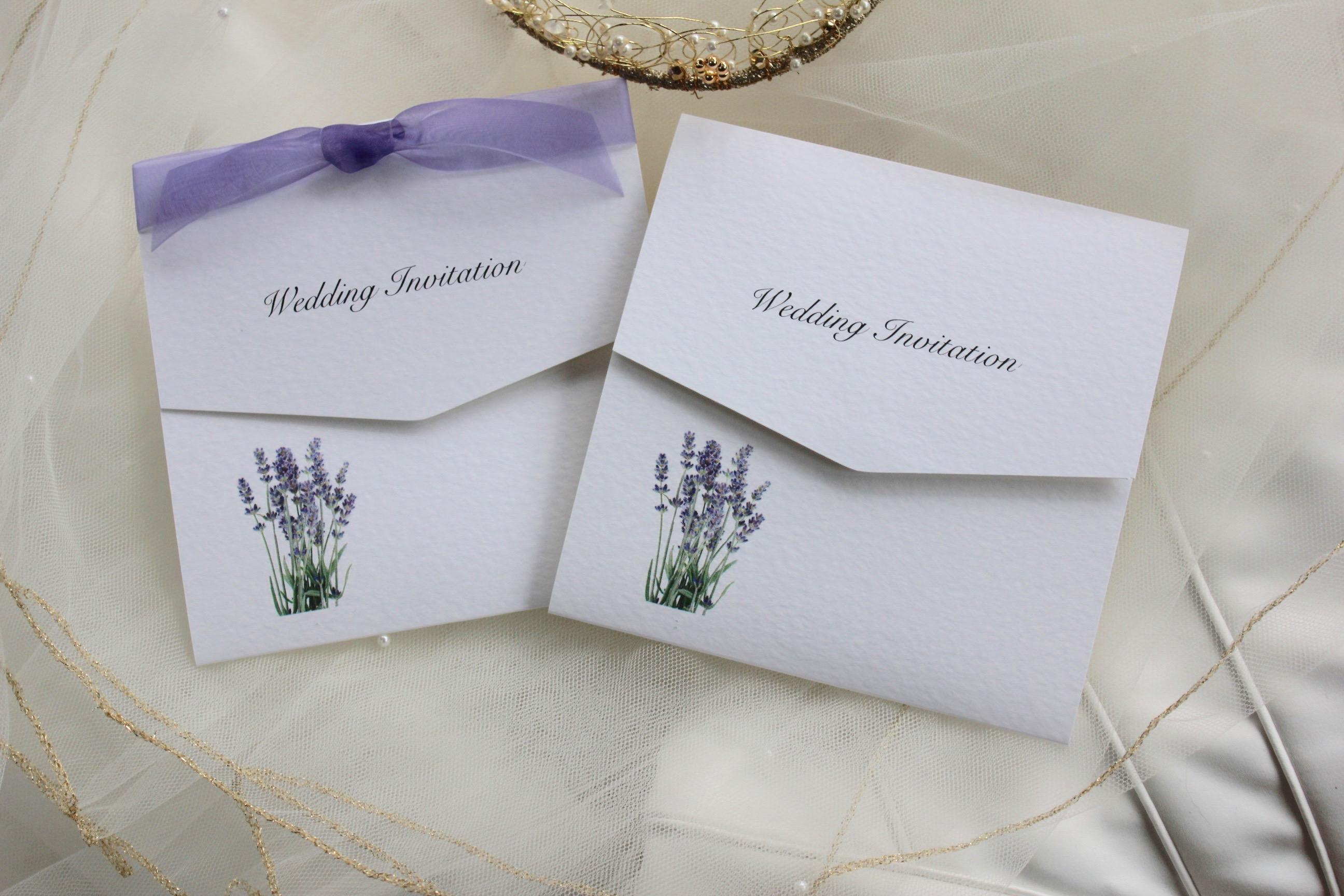 Lavender tri fold wedding invitations wedding invites for Printable folded wedding invitations