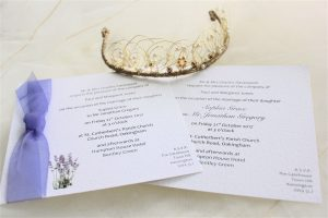 Lavender Flat Square Wedding Invitations
