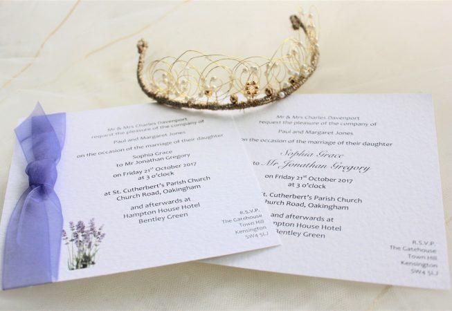 Lavender Flat Square Wedding Invitations