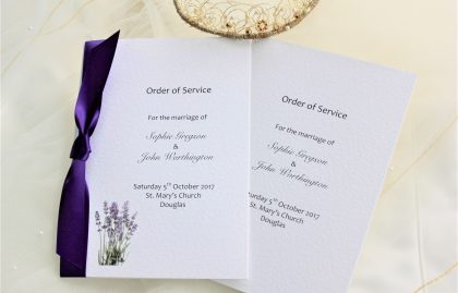 Small Lavender Order of Service Books