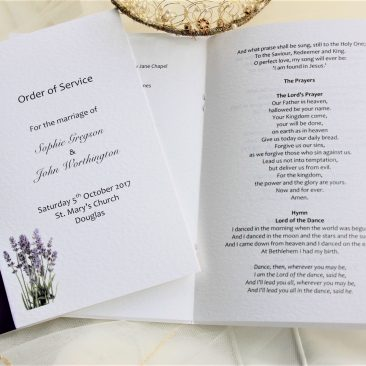 Large Lavender Order of Service Books