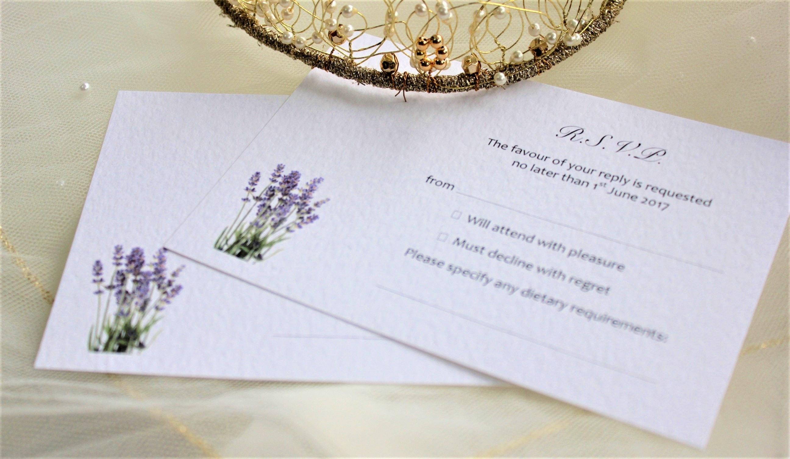 Lavender RSVP Postcards