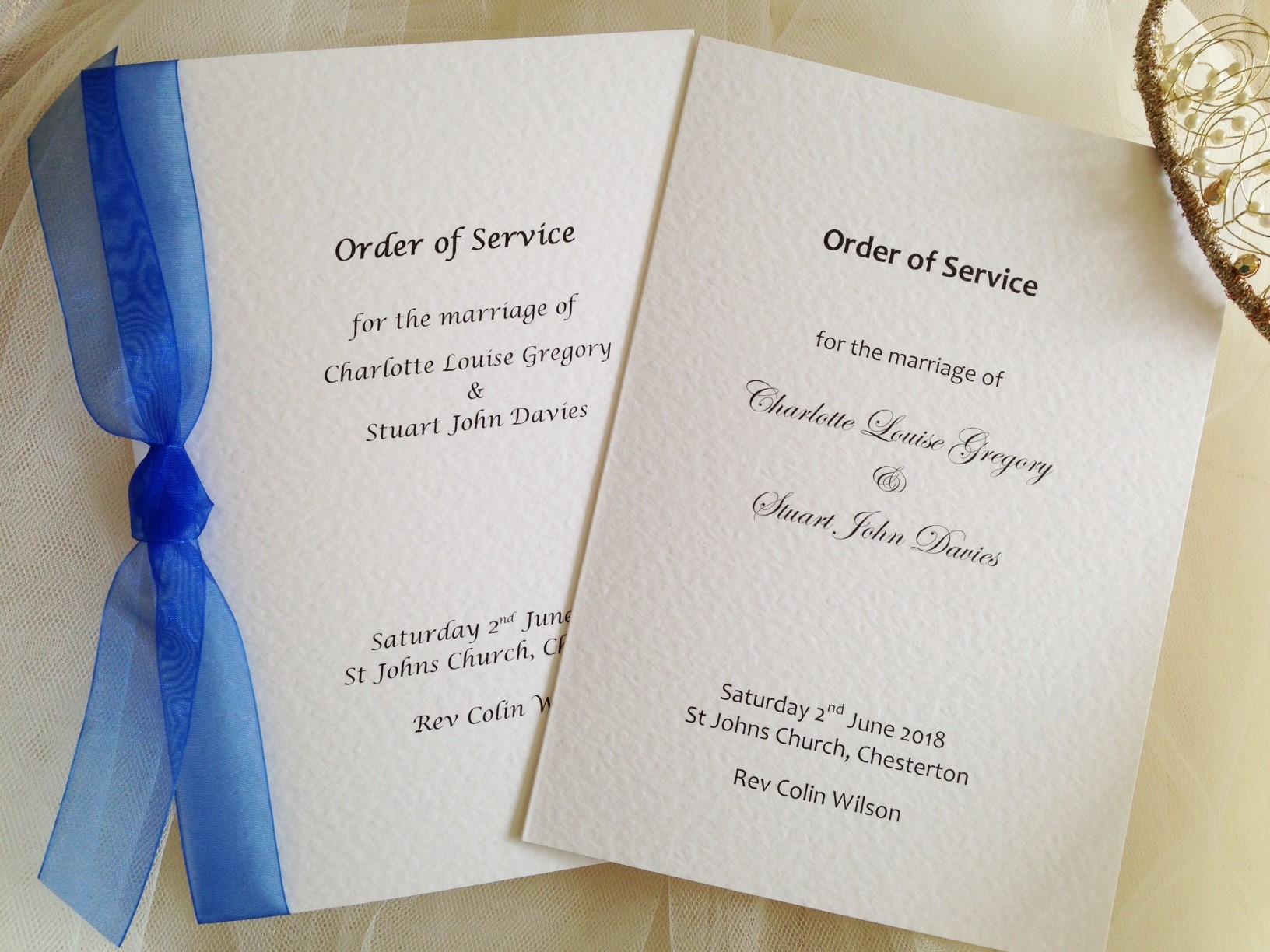 Large Order of Service Books from £1.75