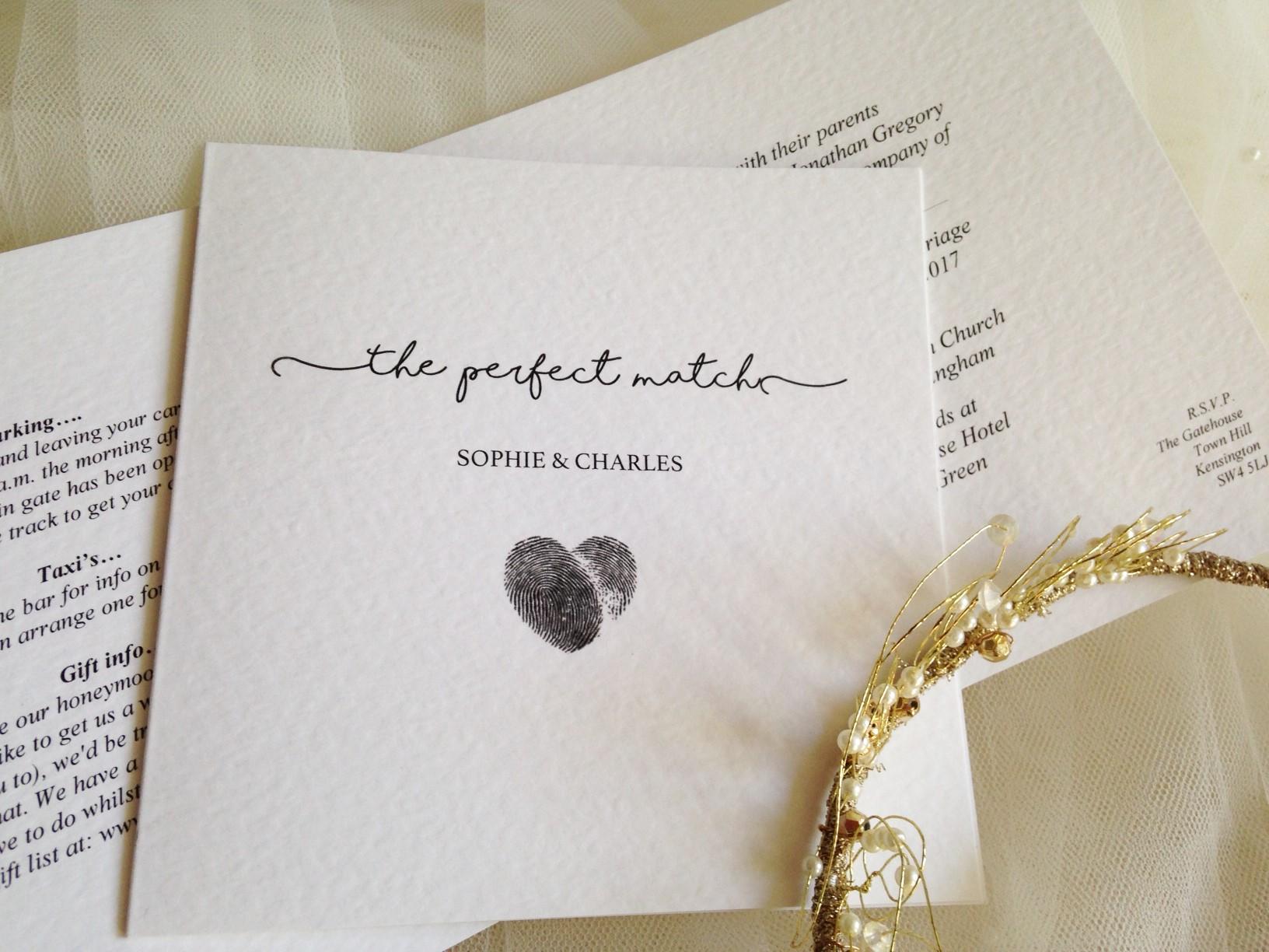 Perfect Match Wedding Invitations