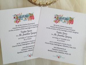Sweet Love Square Flat Wedding Invitations