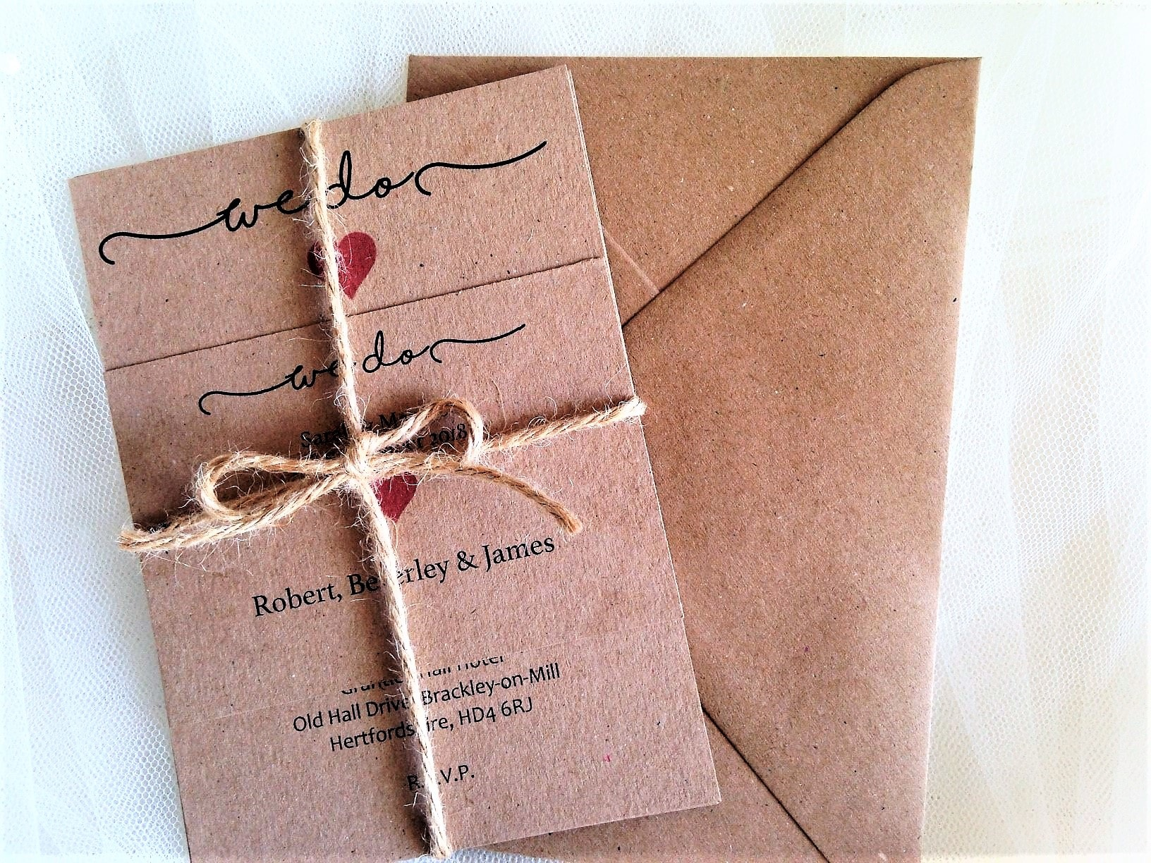 'We Do' Rustic Wedding Invitations