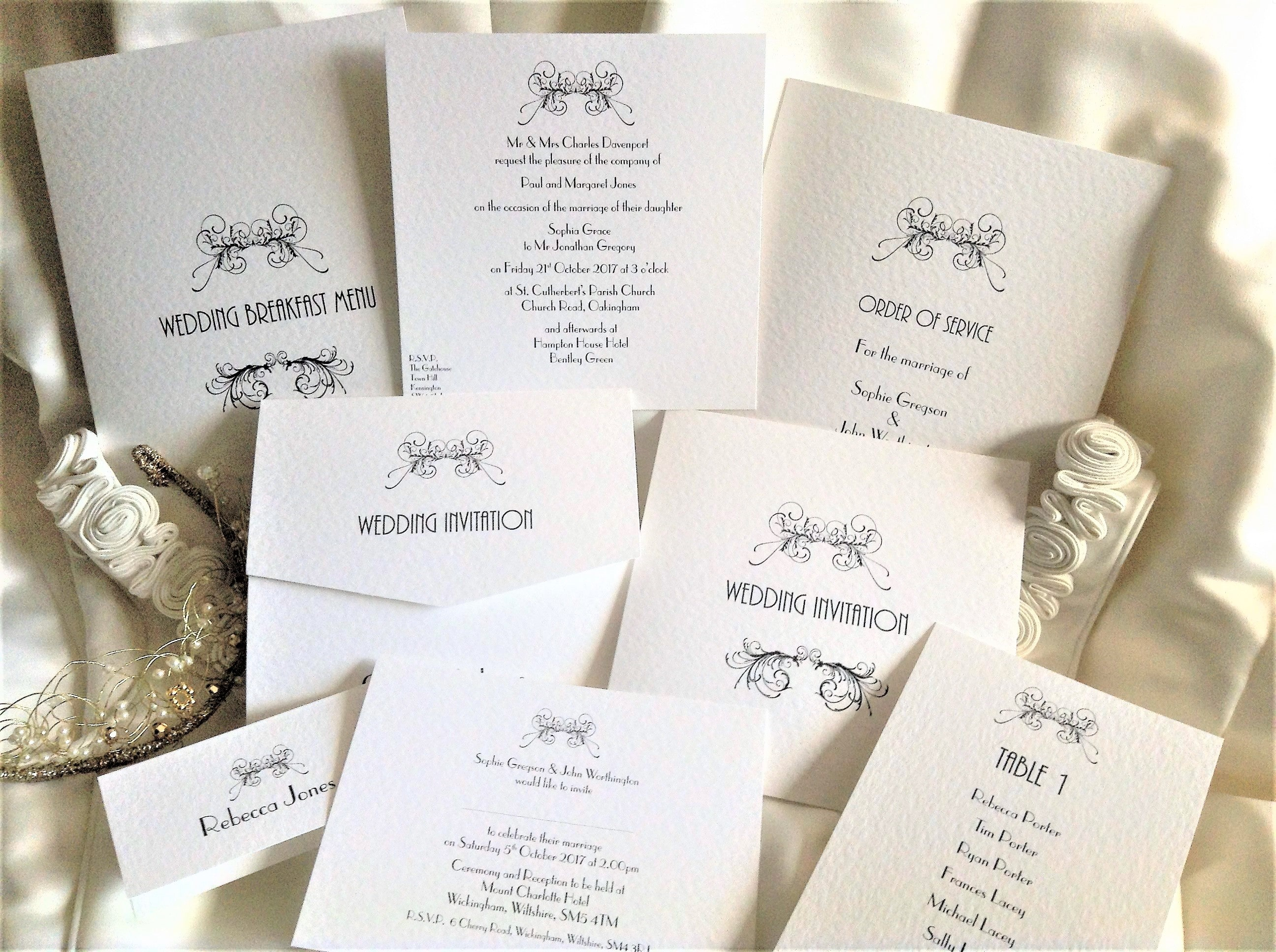 Art Deco Wedding Stationery