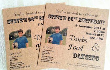 Photo Birthday Invitations