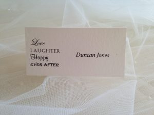 Love Laughter Happy Ever After Place Cards