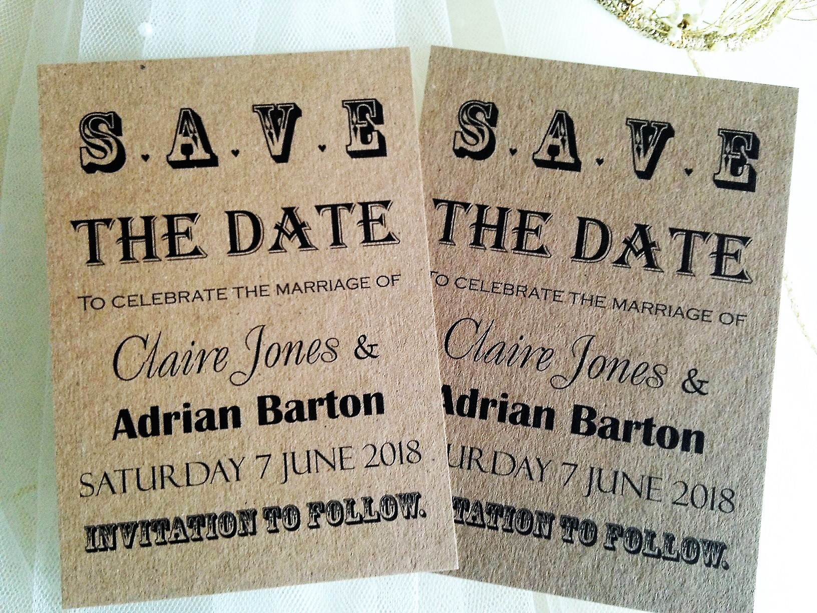 Save the date card in Perth