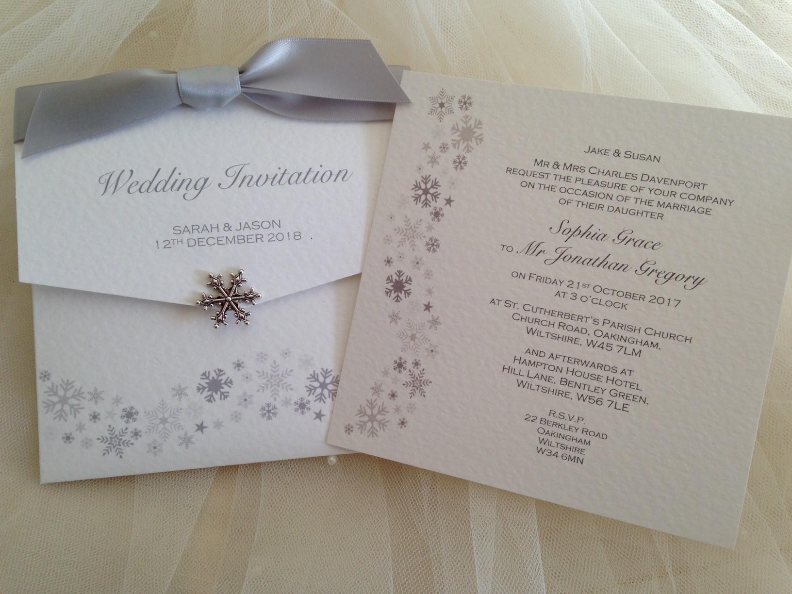 Snowflake Wedding Invitations | Wedding Invitations