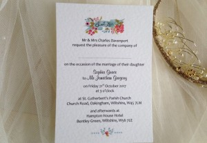 Sweet Love Wedding Invitations - 60p per invite
