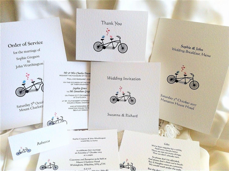 Tandem Wedding Stationery
