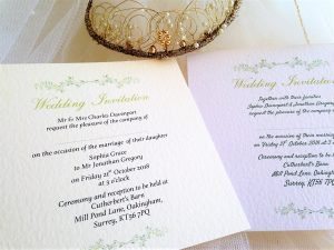 Woodland Wedding Invitations – Flat Square