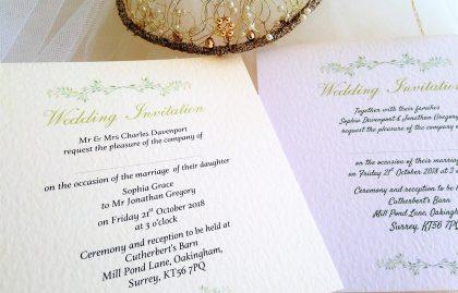 Woodland Wedding Invitations – Flat Square