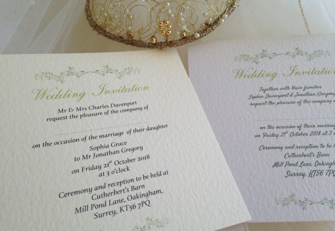 Woodland Wedding Invitations - Flat Square