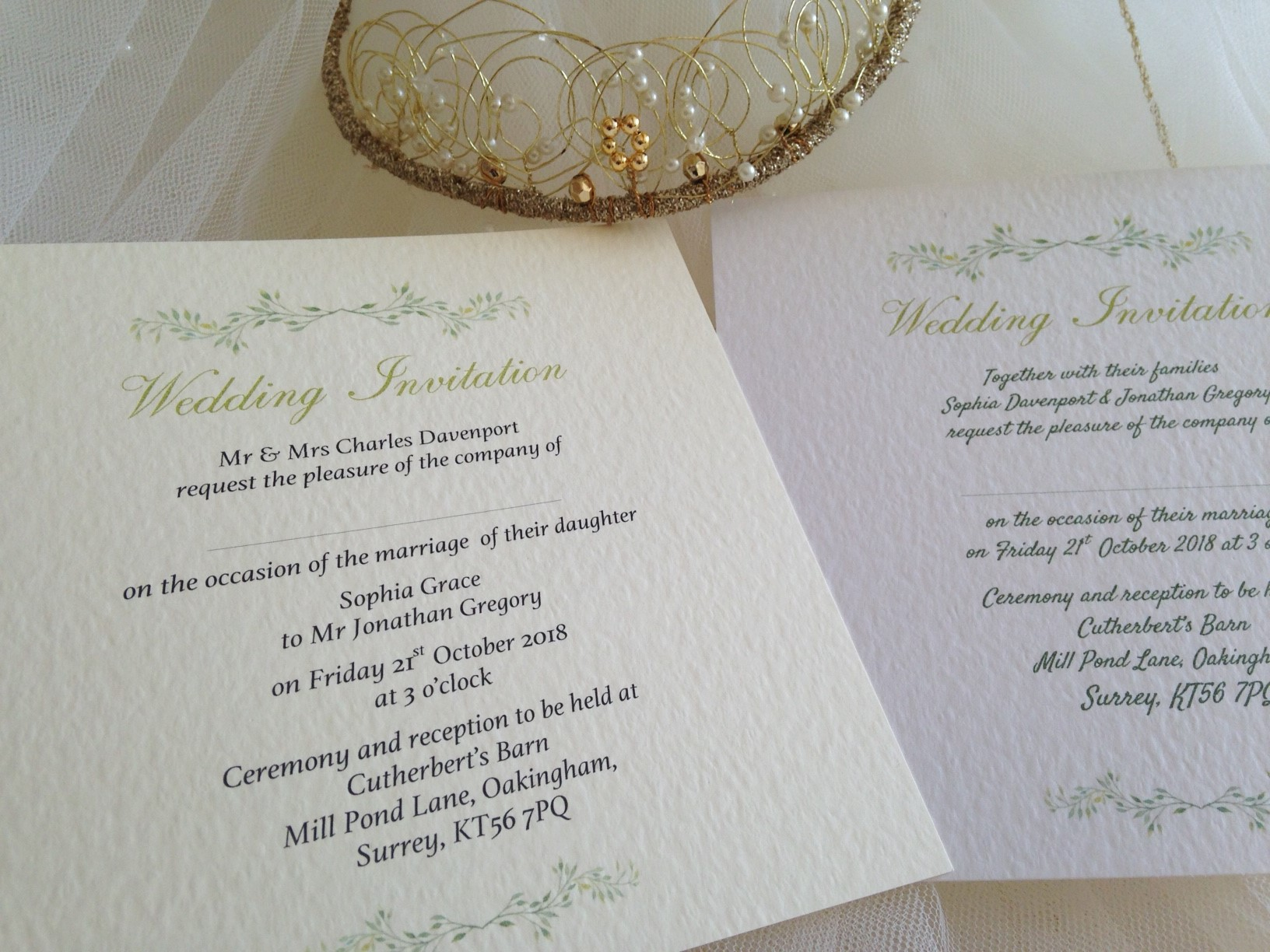 Wedding Invitations England: Woodland Wedding Invitations