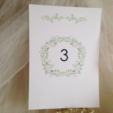 Woodland Table Numbers