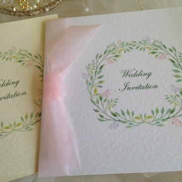 Woodland Wedding Invitations – Square Centre Fold