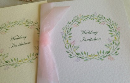 Woodland Wedding Invitations – Square Centre Fold
