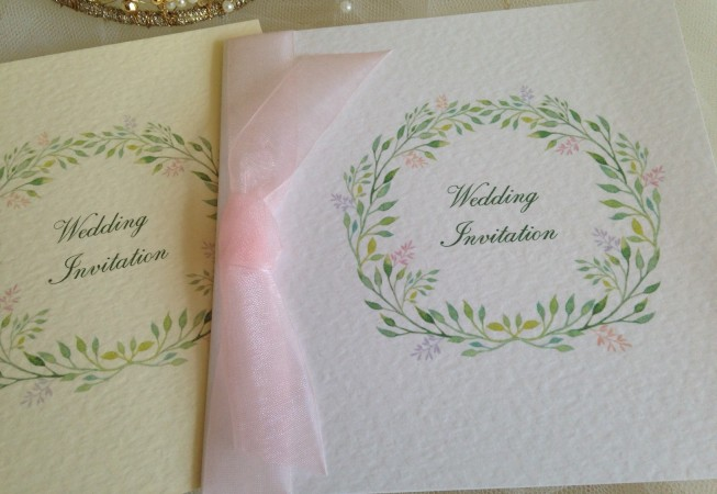 Woodland Wedding Invitations - Square Centre Fold