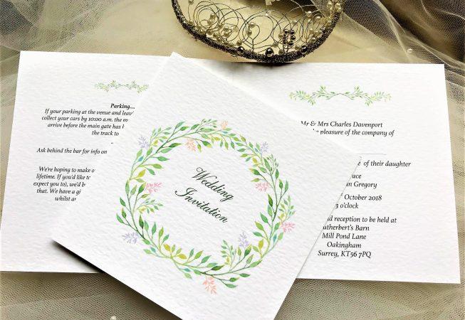 Woodland Wedding Invitations - Square Centre Fold