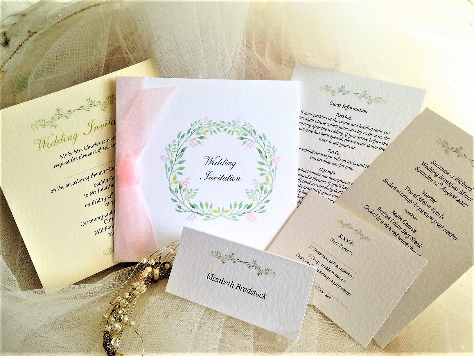 Woodland Wedding Stationery Range