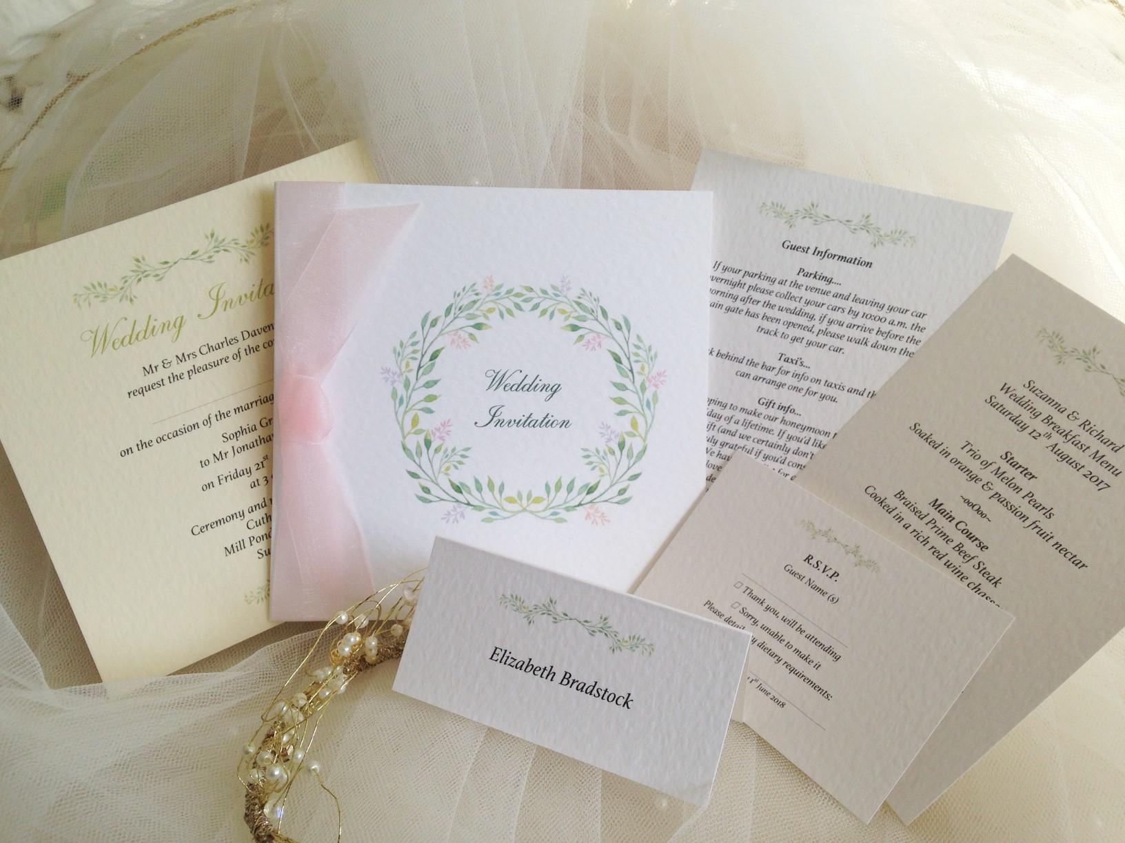 New Wedding Stationery Ranges - Daisy Chain Invites