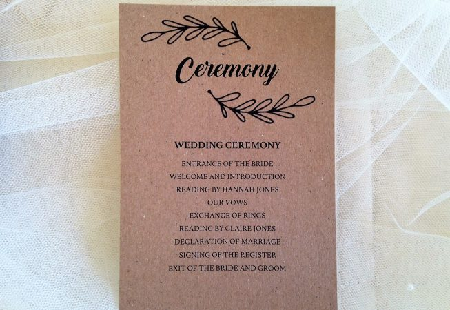 Wreath Ceremony Cards