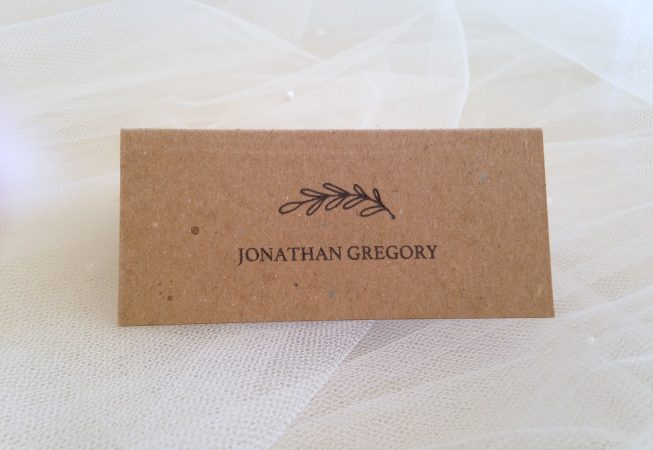 Wreath Place Cards